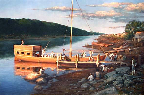 Loading the Lewis and Clark Keelboat_robertgriffing590x387