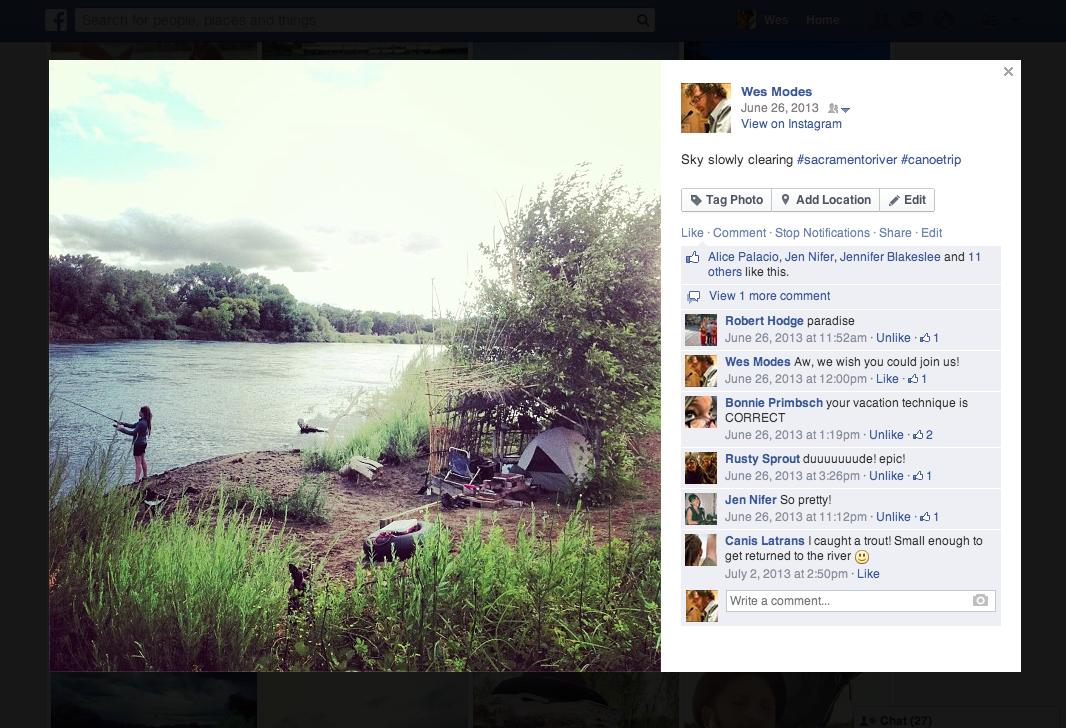 Facebook image from Sacramento River Trip