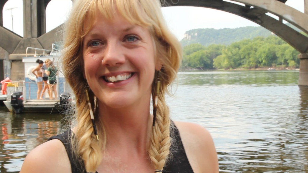 Kali Arline, Winona houseboat resident, interviewed in Winona, MN