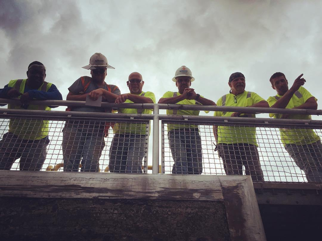 The most curious lock crew we've ever encountered at Wilson Lock