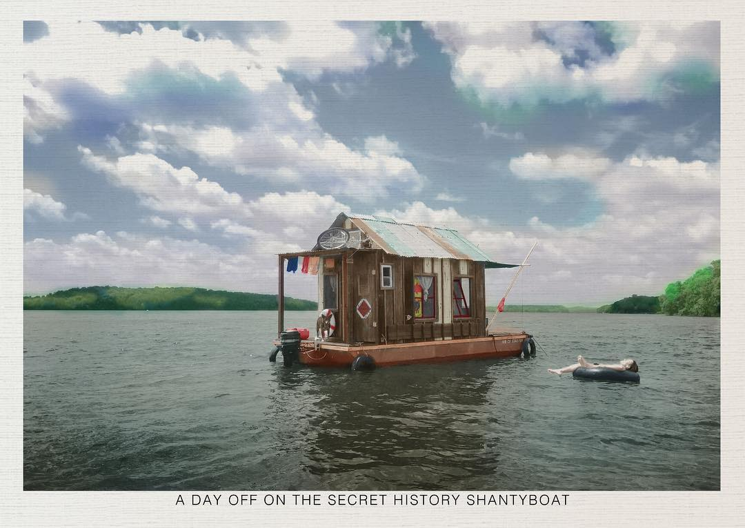 """A day off on the Secret History shantyboat"