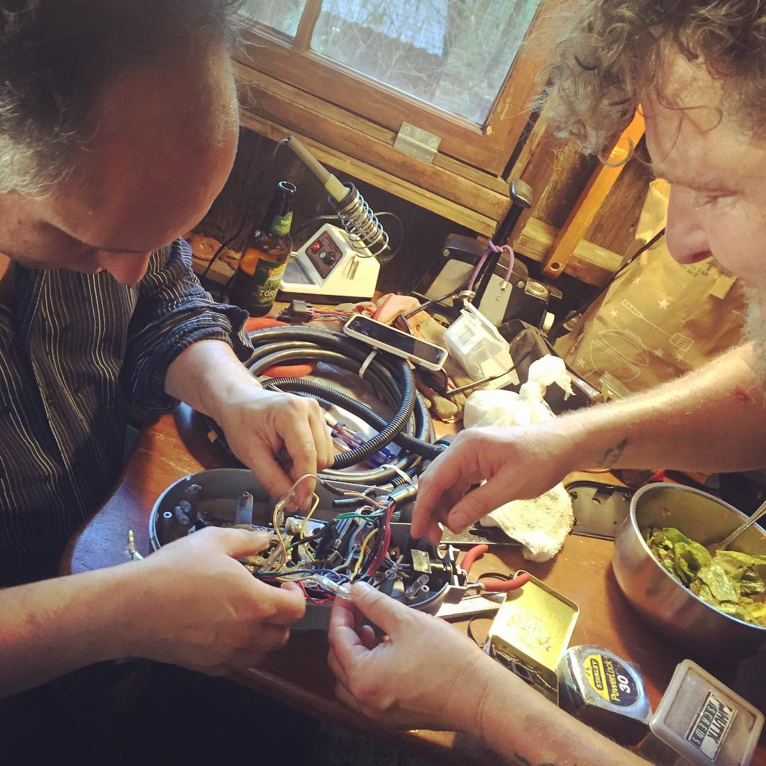 James and Wes rewiring (turns out unnecessarily) the new MerController