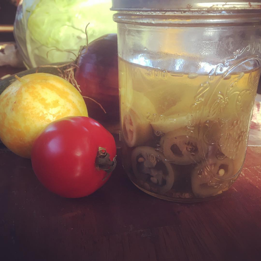 We love that people frequently bring us homegrown veggies. Who brought us the peck of pickled peppers?