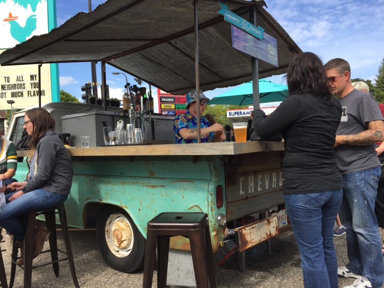 Food trucks and bars kept people fed and happy