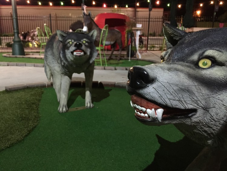 Betty Danger's Country Club mini golf with wild animals
