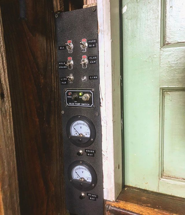 Shantyboat Dotty control panel finally finished