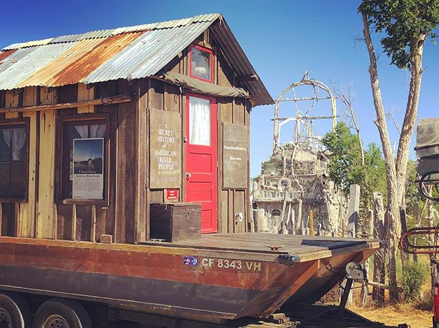 Shantyboat at the Thunder Mountain Indian Monument along I80 in Nevada. A monument to native suffering at the hands of white folk