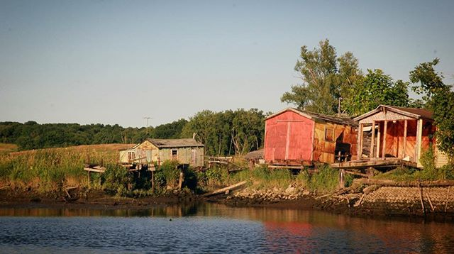 Exploring Hudson's Fugery Boat Club, i.e., the North Dock Tin Boat Association or just the Shacks. A hundred year old collection of shanties whose occupants were evicted in 2013