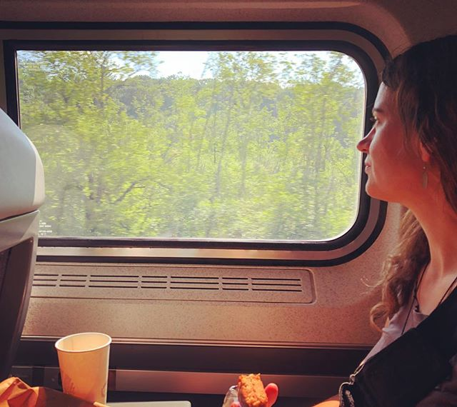 Next phase of our shantyboat journey: Amtrak north to get the truck. #shantyboat #amtrak #crazytrain