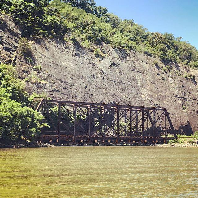 Mystery train bridge near World's End. What is it bridging? #shantyboat #mysterytrain