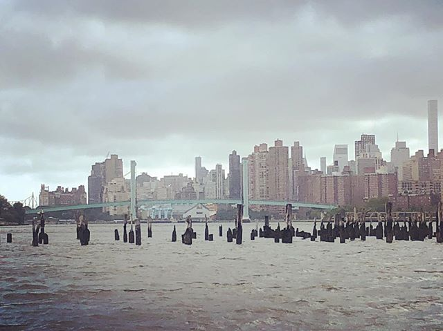 The city from the Harlem River #shantyboat #harlemriver #nyc