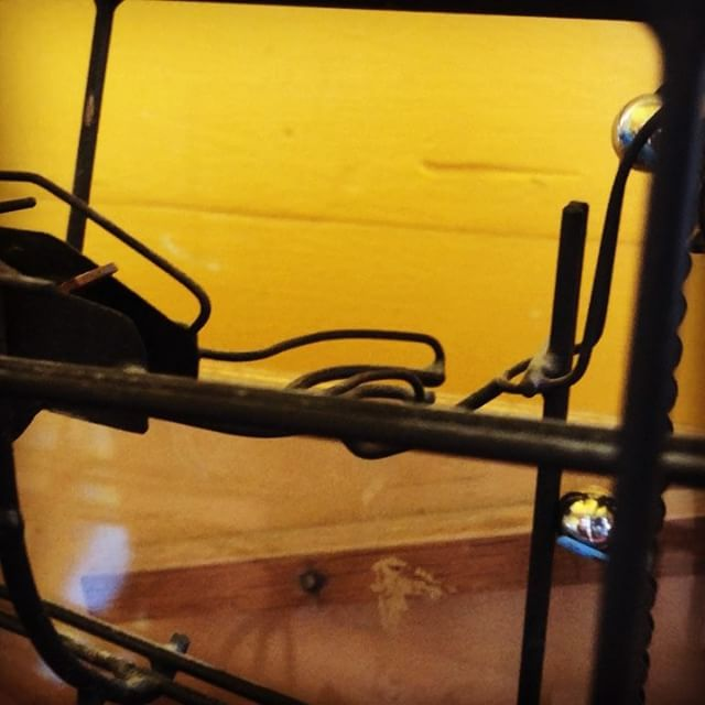 Playing with mini George Rhodes kinetic sculpture at the Waterfront Museum in Red Hook, Brooklyn #shantyboat #woodenboats #redhook #brooklyn #nyc