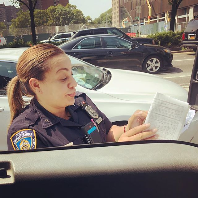 Officer Martinez stopped me after I cross Williamsburg Bridge to remind me with the summons that in New York one cannot hold their cell phone #NYC #Enforcement #NotGuilty