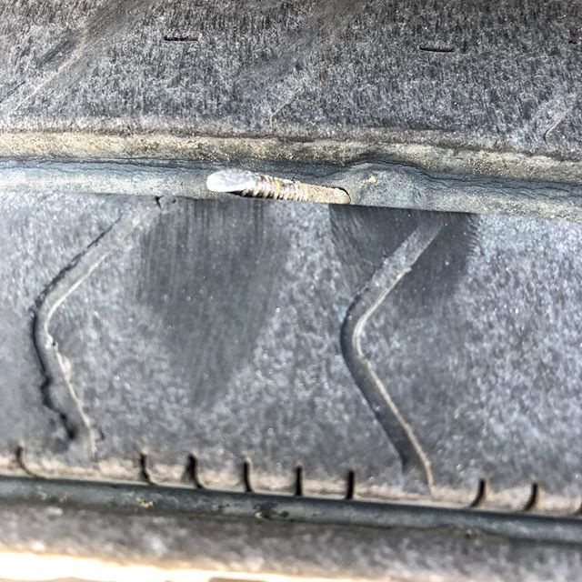 Uh oh. I haven't had to worry about these tires ever since the good folks Predator Trailer in Omaha replace the trailer suspension, axles, wheels, and tires. #shantyboat #tires #trailers